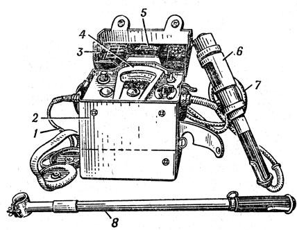 Рентгенометр ДП-5А: 1 - кабель